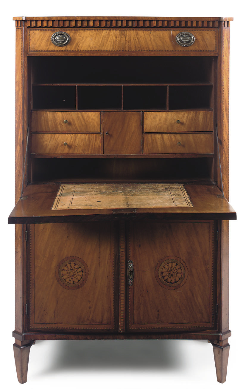 DUTCH SATINWOOD AND MARQUETRY