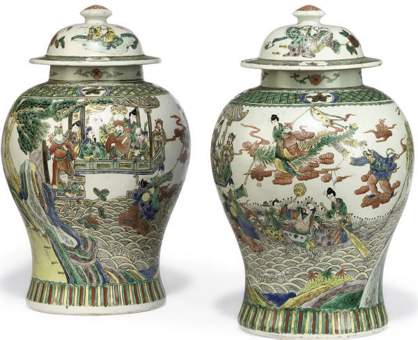 A PAIR OF CHINESE STYLE FAMILL
