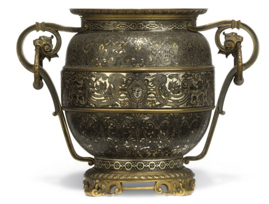 A FRENCH BRONZE AND ETCHED MET