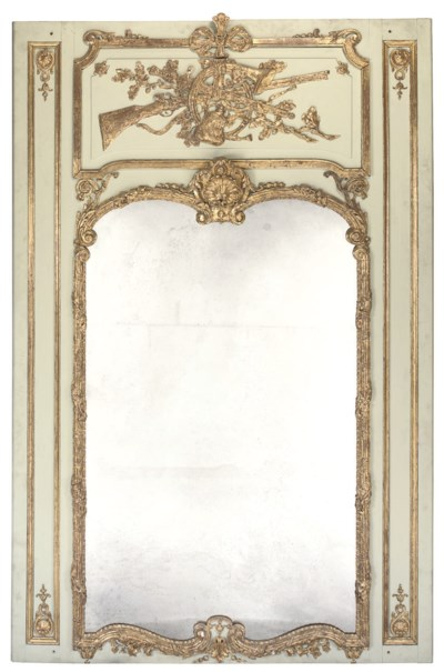 A PARCEL-GILT AND GREY PAINTED