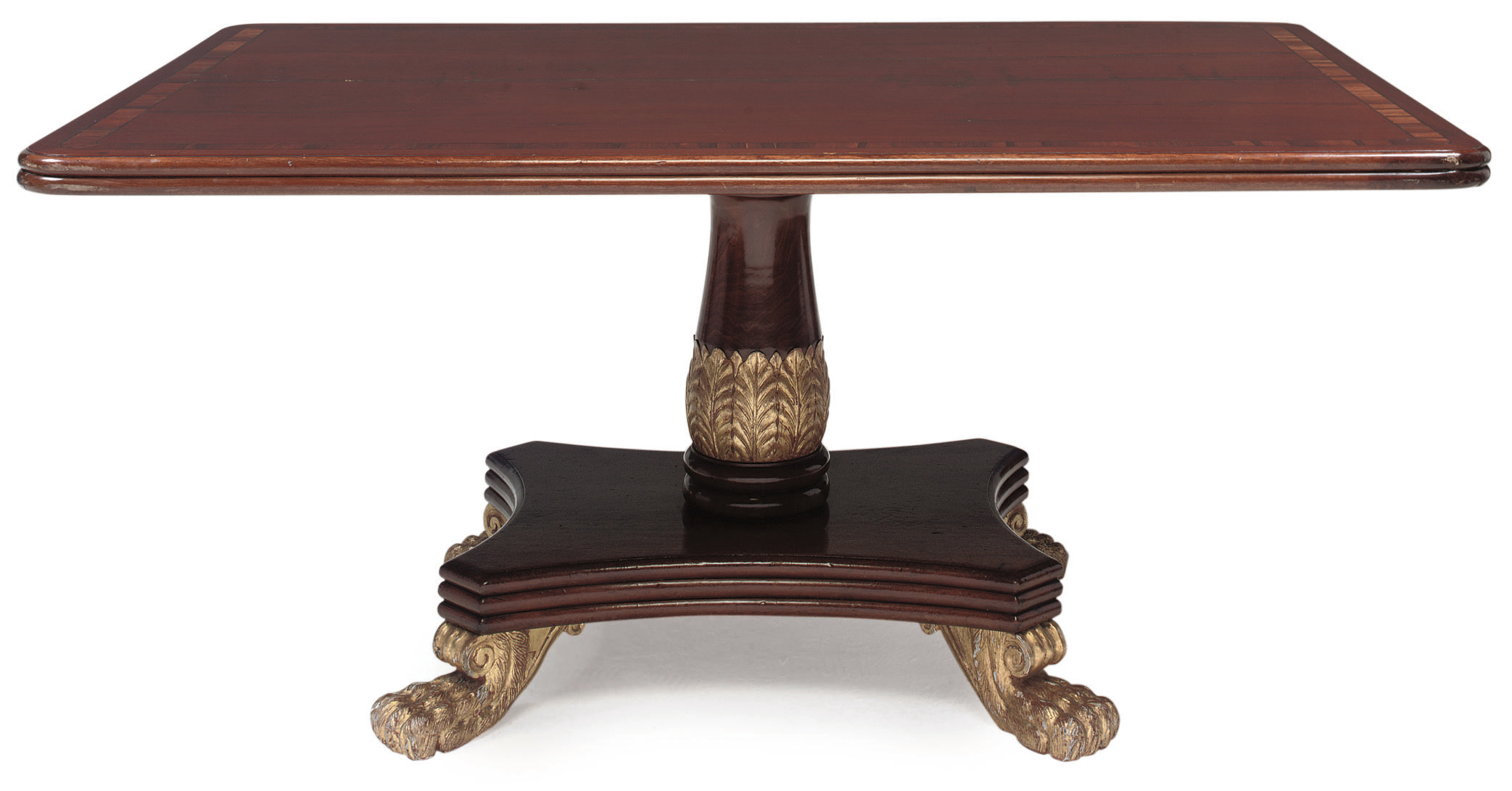 A WILLIAM IV MAHOGANY AND PARC