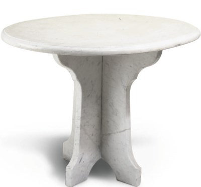 A MARBLE OCCASIONAL TABLE