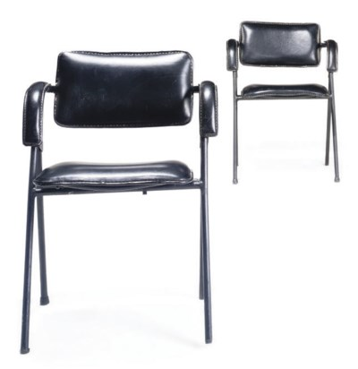 A PAIR OF JACQUES ADNET FOLDIN