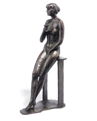 A DUTCH BRONZE FIGURE OF A NUD