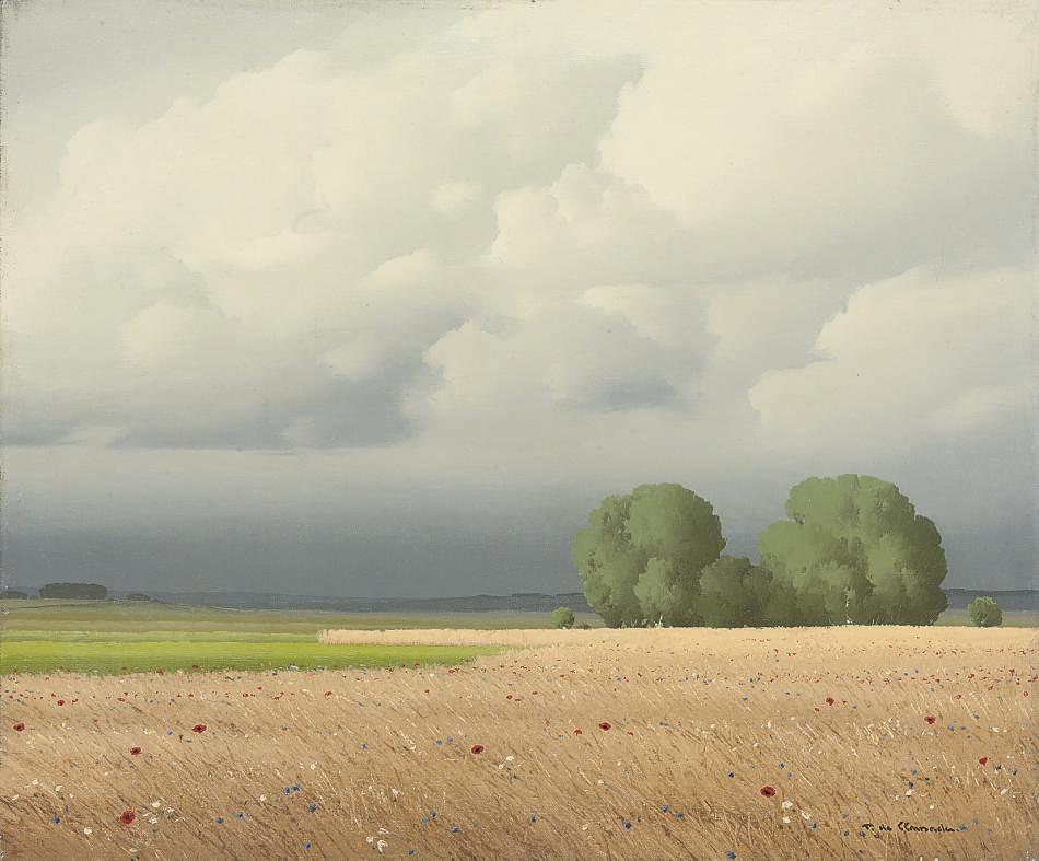 Le champ de blés, Nièvre, France