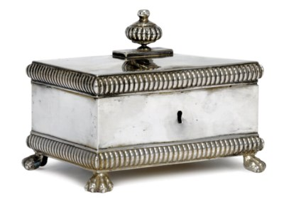 A GERMAN SILVER SUGAR BOX