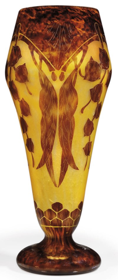 A CHARDER CAMEO GLASS VASE
