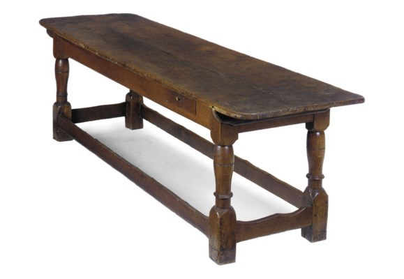 A FRENCH OAK REFECTORY TABLE