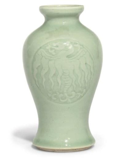 A Chinese celadon glazed vase