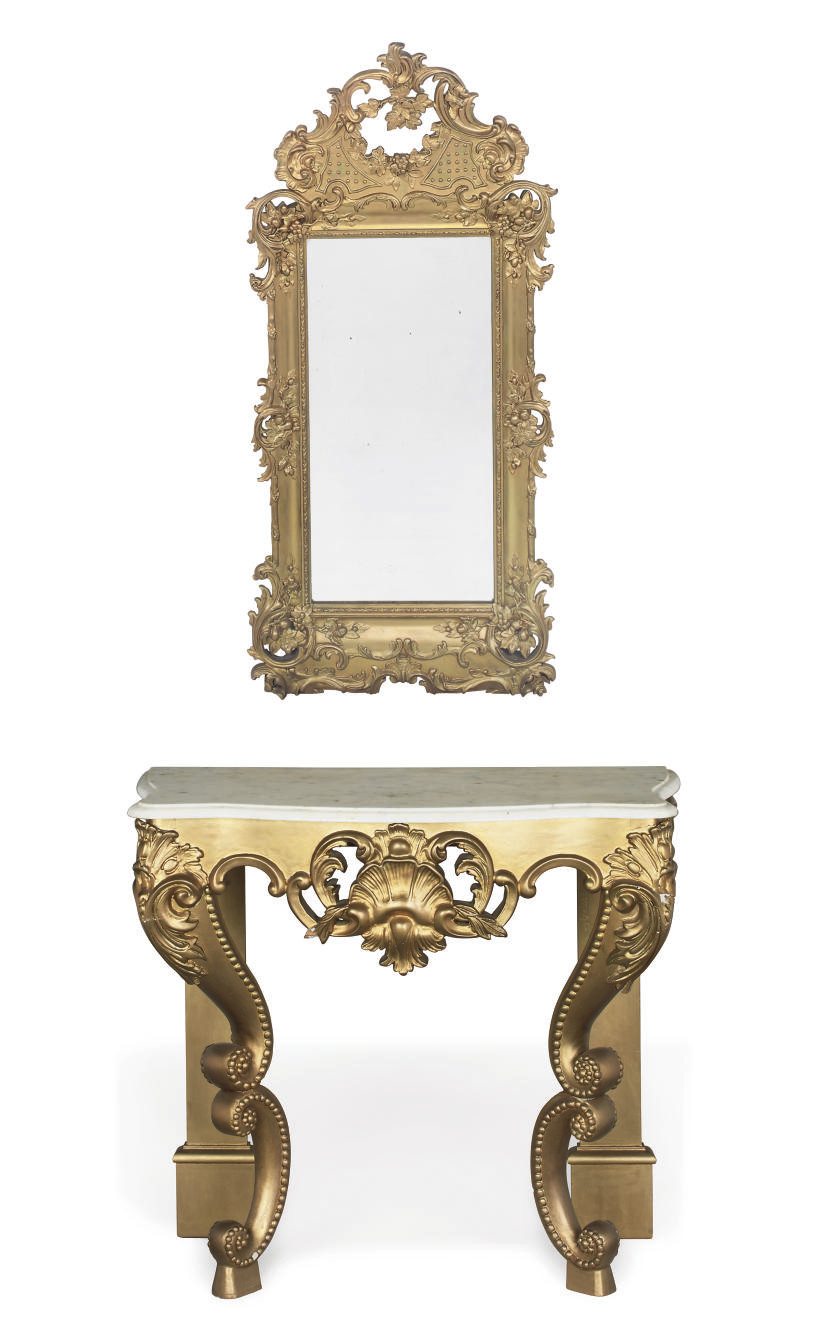 A SWEDISH GILTWOOD AND GESSO M