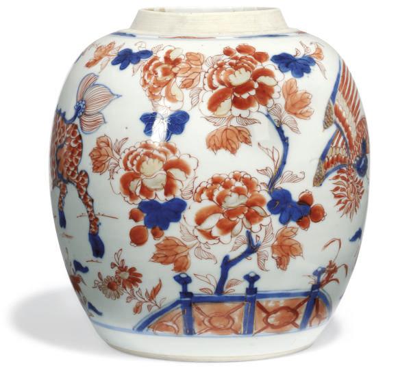 A CHINESE IMARI GINGER JAR