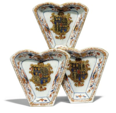 THREE CHINESE ARMORIAL SWEETME