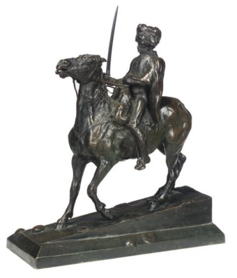 A FRENCH BRONZE GROUP OF A HUS