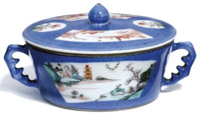 A CHINESE BLUE GROUND CIRCULAR