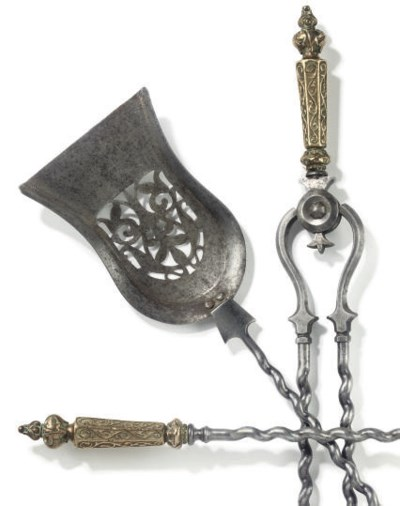 A SET OF VICTORIAN STEEL AND B