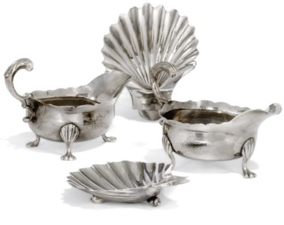 A PAIR OF GEORGE II SILVER SAU