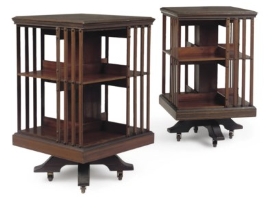A PAIR OF EDWARDIAN MAHOGANY R