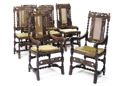A SET OF EIGHT ENGLISH OAK CAN