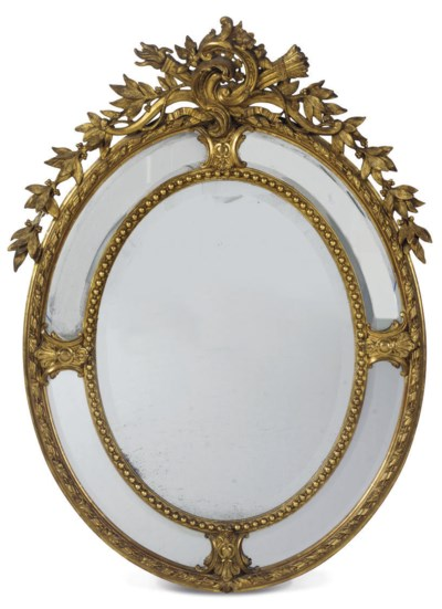 A FRENCH GILTWOOD AND GESSO WA