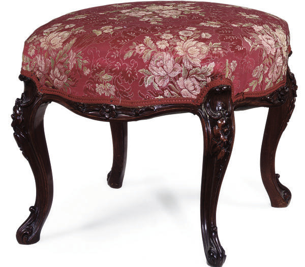 A MID VICTORIAN ROSEWOOD STOOL