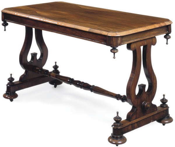 AN EARLY VICTORIAN ROSEWOOD CE
