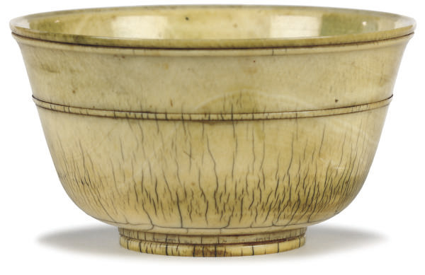 A EUROPEAN TURNED IVORY BOWL