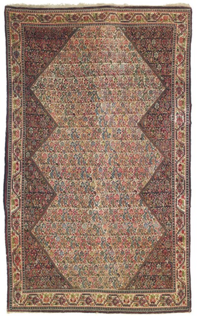 An antique Sarouk-Feraghan rug