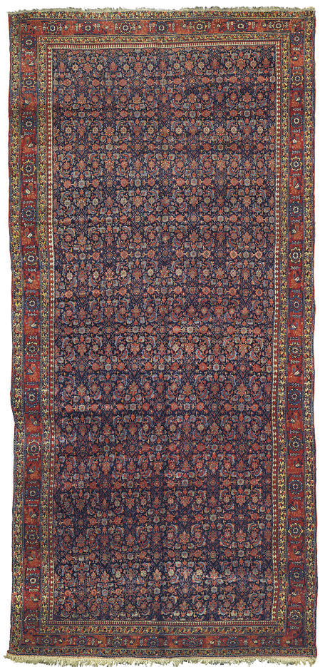 An antique Senneh carpet