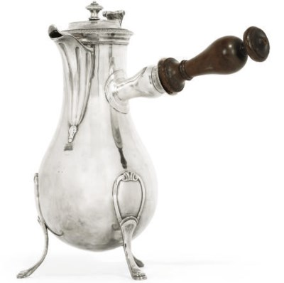A LARGE FRENCH SILVER COFFEE P