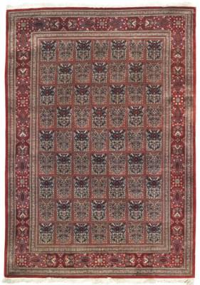 A very fine silk Qum rug