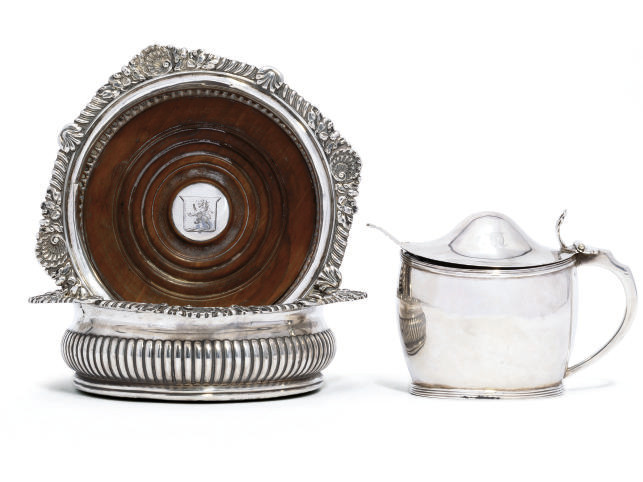 A PAIR OF GEORGE III SILVER CO