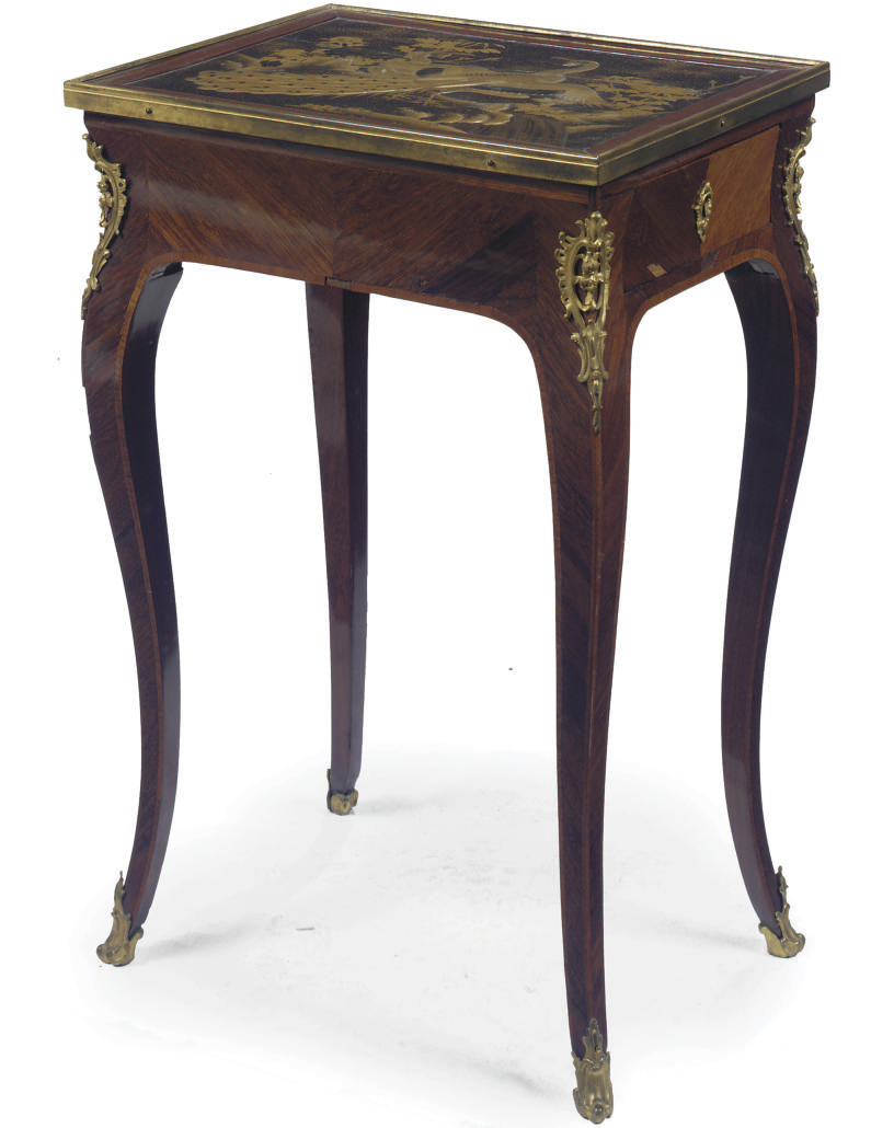 A FRENCH ORMOLU-MOUNTED AND JA