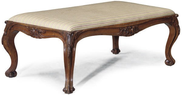 A VICTORIAN CARVED WALNUT SALO