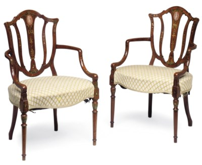 A PAIR OF LATE GEORGE III PAIN