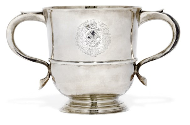 A QUEEN ANNE TWO-HANDLED SILVE