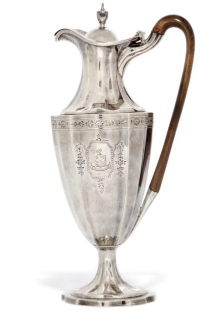 A GEORGE III SILVER EWER