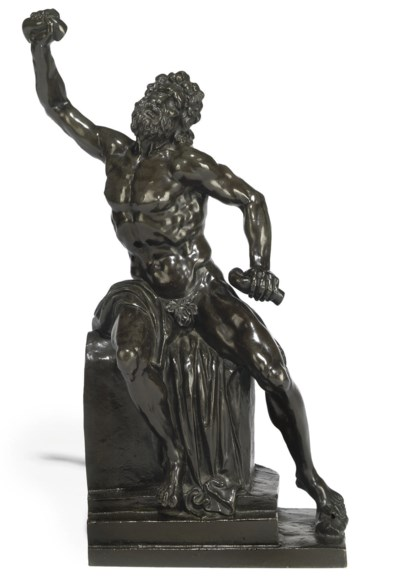A BRONZE FIGURE OF LAOCOON