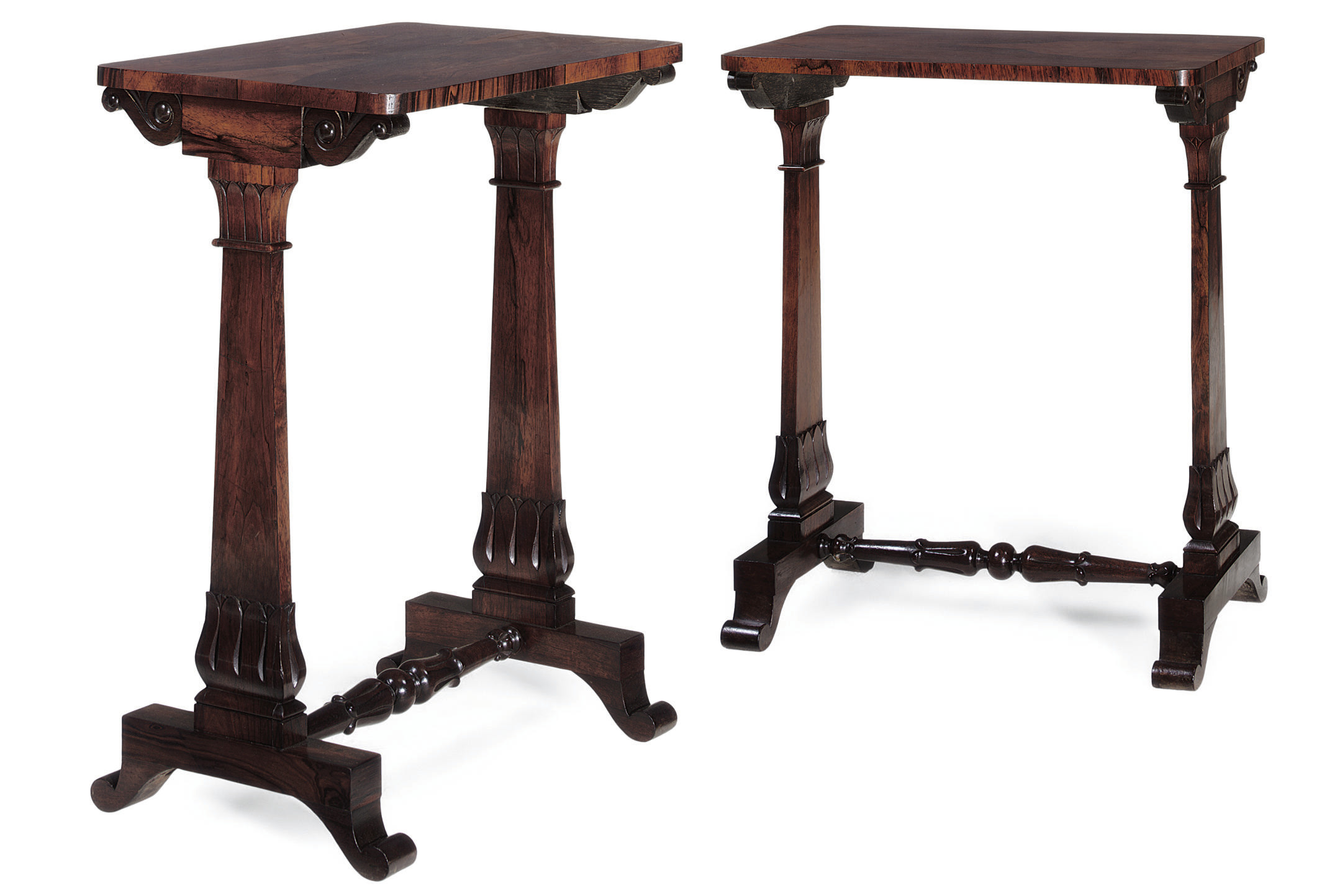 A PAIR OF REGENCY ROSEWOOD OCC