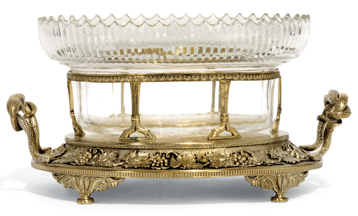 A GEORGE III SILVER-GILT COMPORT STAND