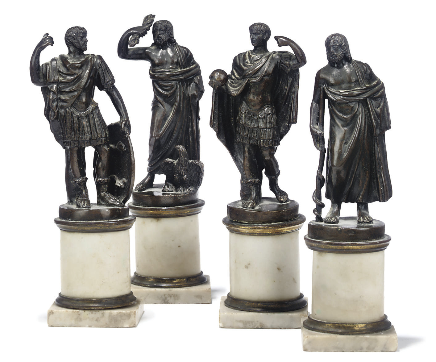 A SET OF FOUR FRENCH BRONZE MO