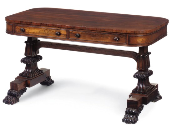 A GEORGE IV ROSEWOOD CENTRE TA
