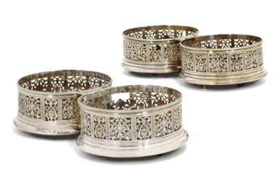 A PAIR OF GEORGE IV SILVER DOU