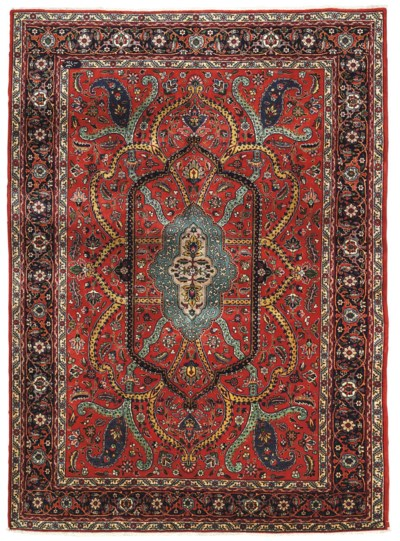 A PAIR OF FINE UNUSUAL TABRIZ