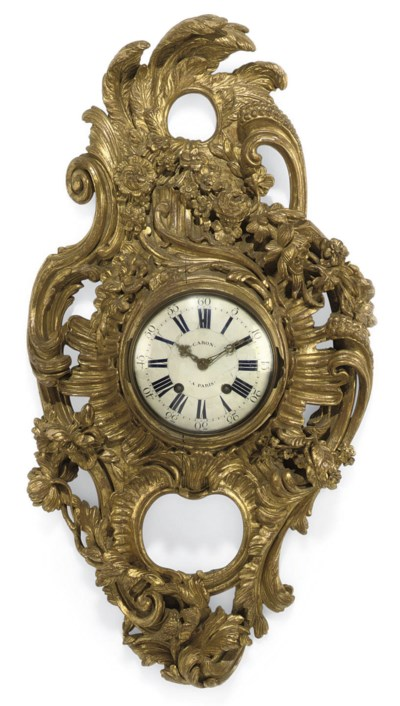 A LOUIS XV GILTWOOD EIGHT DAY