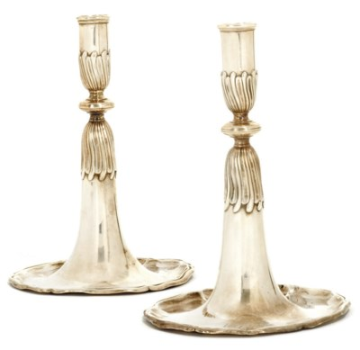 A MATCHED PAIR OF SWISS SILVER