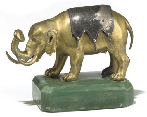 AN ORMOLU MODEL OF AN ELEPHANT