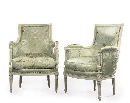 A PAIR OF DIRECTOIRE PAINTED B