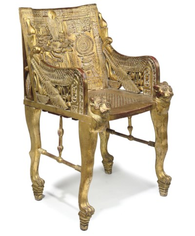 AN EGYPTIAN REVIVAL GILTWOOD A