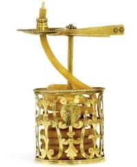 A GEORGE III SILVER-GILT WAX JACK