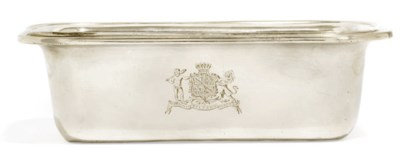 A WILLIAM IV SILVER PIE DISH W